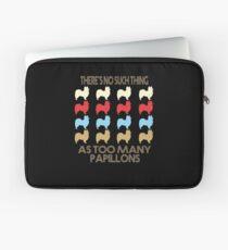 Papillon Dog Retro 1970's Style Laptop Sleeve