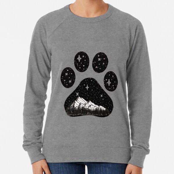 Kampierende Waldgebirgsgeschenk der Hundetatze für Welpenliebhaber Leichter Pullover
