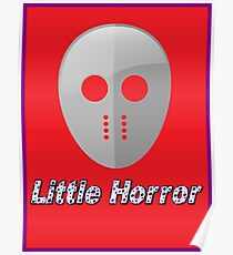 Jason Hockey Mask 'Little Horror' by Chillee Wilson Poster
