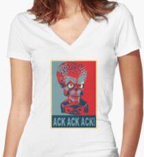 Ack Ack Ack! Women's Fitted V-Neck T-Shirt