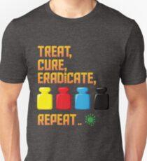 Pandemic Treat, Cure, Eradicate, Repeat Board Game Graphic - Tabletop Gaming Slim Fit T-Shirt