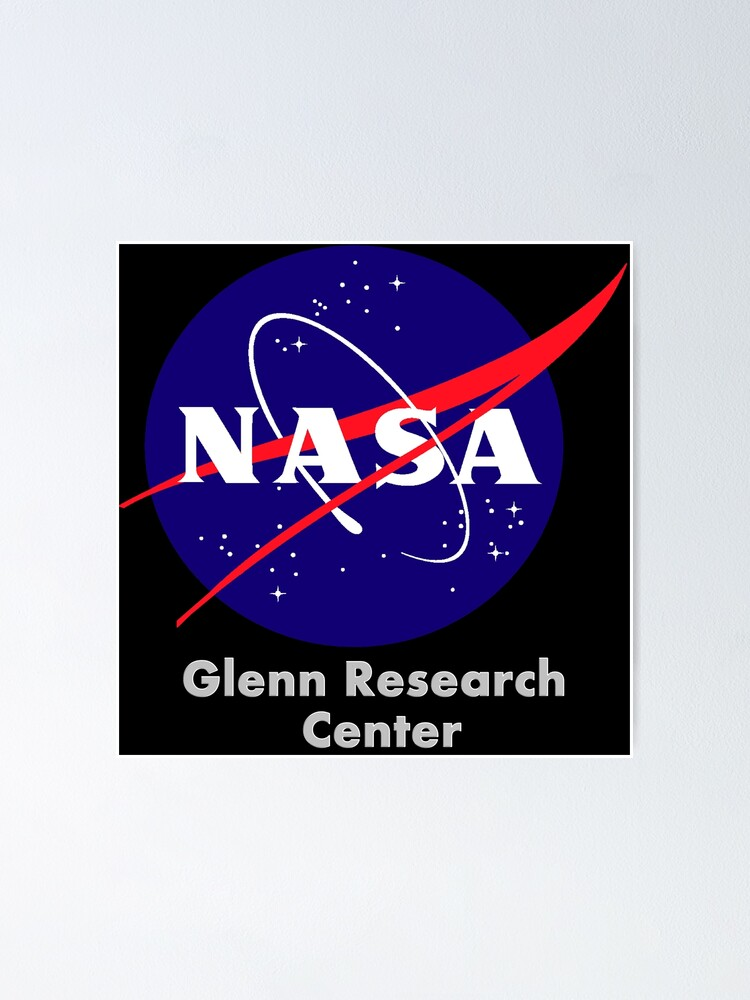 "John H. Glenn Research Center at Lewis Field Logo"" Poster by Quatrosales |  Redbubble"