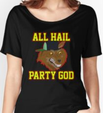 All Hail Party God - Adventure TIme Women's Relaxed Fit T-Shirt