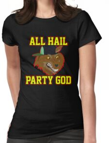 All Hail Party God - Adventure TIme Womens Fitted T-Shirt