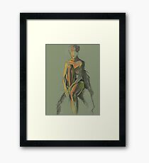 Quietly sitting Framed Print