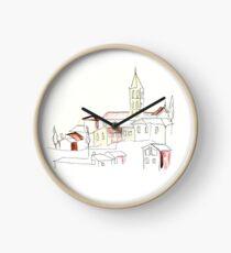 Reloj Pueblo italiano de la colina