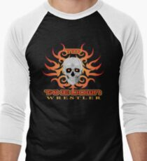 skull flame tatoo Men's Baseball ¾ T-Shirt