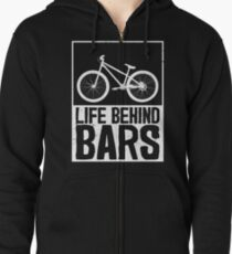 Sudadera con capucha y cremallera Vida detrás de barras camiseta