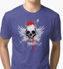 flying skull Tri-blend T-Shirt