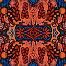 Indian Summer, bohemian pattern, orange and blue by clipsocallipso