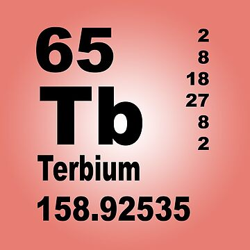 Terbium Periodic Table of Elements by walterericsy