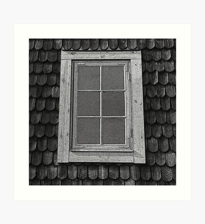Attic grunge, Swedish cottage. Art Print