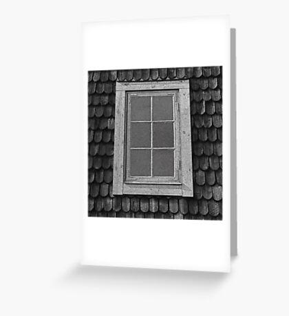 Attic grunge, Swedish cottage. Greeting Card
