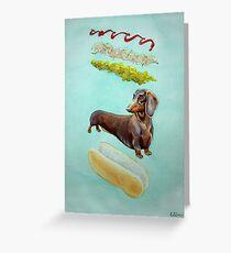 Hot Doggin' - Dachshund in a Bun Greeting Card