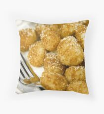 Golden gnocchi Throw Pillow