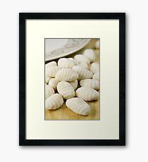 Raw gnocchi Framed Print