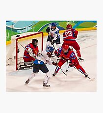 Vancouver 2010: Women's Hockey Action  Photographic Print