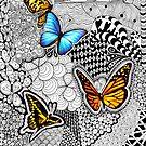 Tangled Butterflies  by julieerindesign