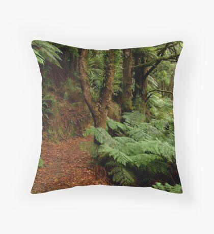 Lush Fern Walk,Otway Ranges Throw Pillow