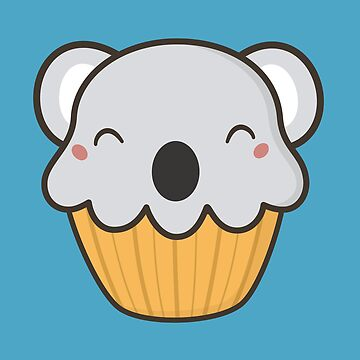 Scrumptious Kawaii Cute Koala Cupcake by happinessinatee