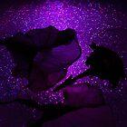 Purple glowing petunas. by Lozzar Flowers & Art