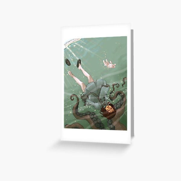 Falling, Drowning Greeting Card