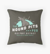 Dishonored - The Hound Pits Pub Throw Pillow