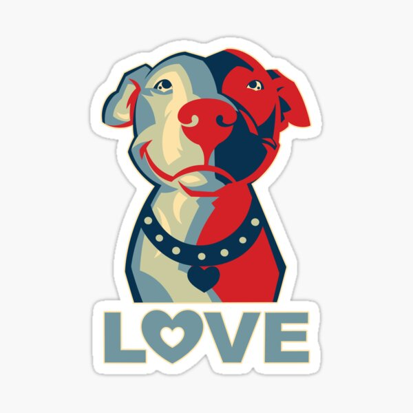 Pitbull - LOVE Sticker