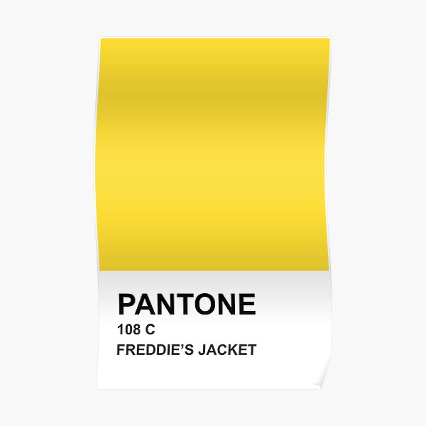 PANTONE Chaqueta de Freddie Póster