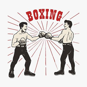 Funny Boxing - Fighters Match Fighting Ring Mat Competition - Humor by stuch75