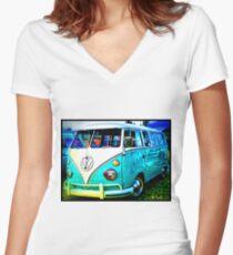 VW Memories Women's Fitted V-Neck T-Shirt