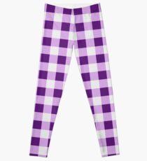 Lilac gingham Leggings