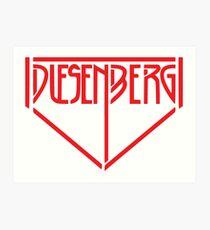 Vintage Duesenberg Logo Art Print