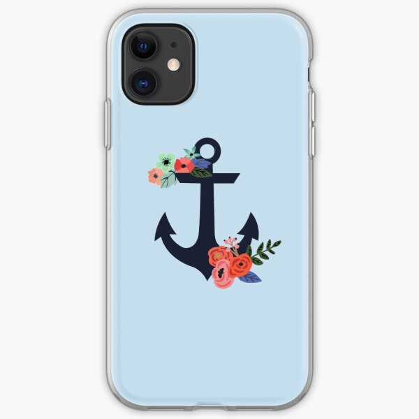Floral Anchor iPhone Soft Case