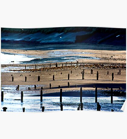 The Shore at Sandsend Poster