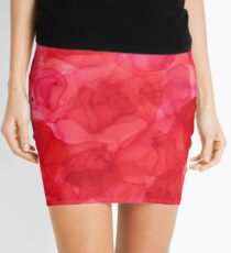 """Pile of Roses"" Alcohol Ink Mini Skirt"