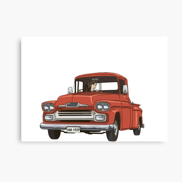 Large Chevrolet Stepside 2 Truck Muscle Hotrod V8 America Wall Poster Art Print