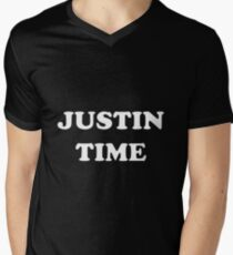 JUSTIN TIME Men's V-Neck T-Shirt