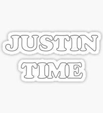 JUSTIN TIME Sticker