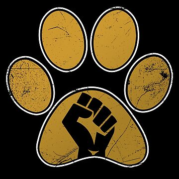 Golden Pet Lover Paw by BlueRockDesigns