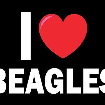 I Love Beagle - Beagle Dog Lover Gift by sols