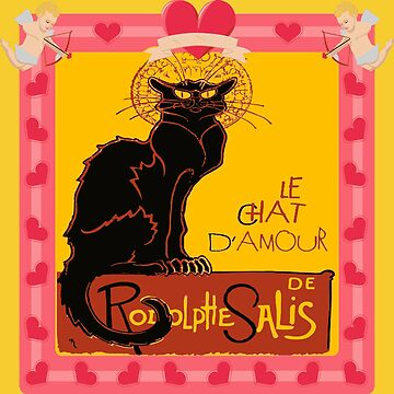 Le Chat Noir D'Amour Heart And Cherub Border by taiche
