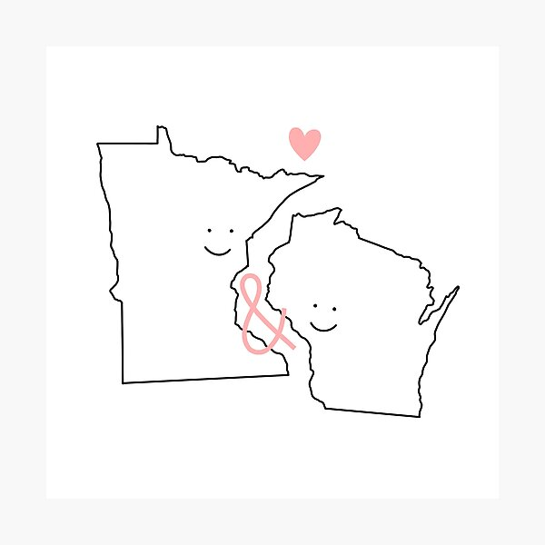 Minnesota and Wisconsin Love  Photographic Print