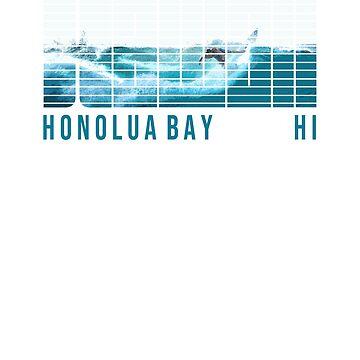 Hawaii Honolua Bay Maui Hawaiian Surfer by IronEcho