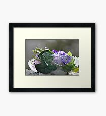 Icy Flowers Framed Print