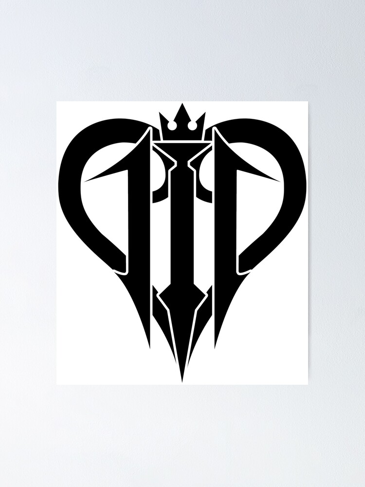 Kingdom Hearts 3 Graphic Logo Black Poster By Afrobattler Redbubble We have 72 free kingdom hearts vector logos, logo templates and icons. redbubble