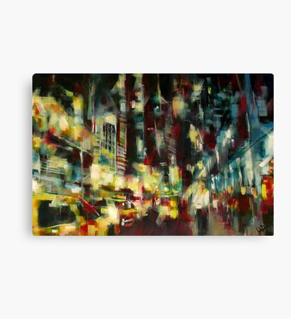 Yellow Cab, New york skyline Canvas Print