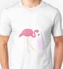 Pink dreams flamingo Slim Fit T-Shirt