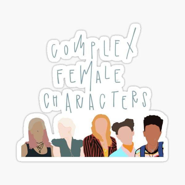 Personajes femeninos complejos Pegatina