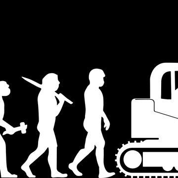 Excavator Driver Digger Gift Present Evolution by Krautshirts
